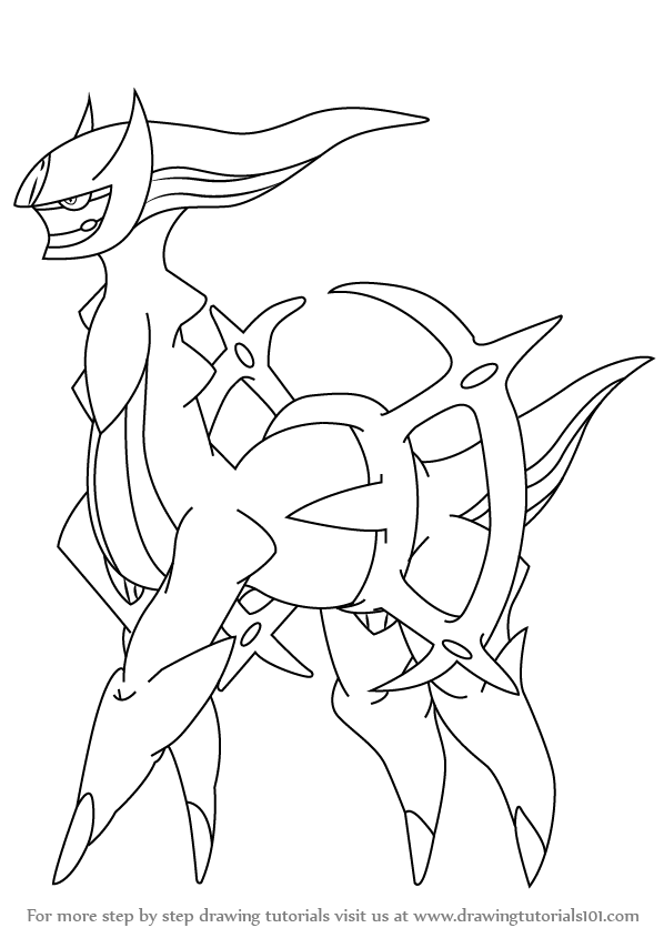 598x845 Learn How To Draw Arceus From Pokemon (Pokemon) Step By Step