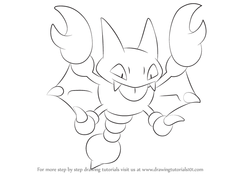 800x566 Learn How To Draw Gligar From Pokemon (Pokemon) Step By Step
