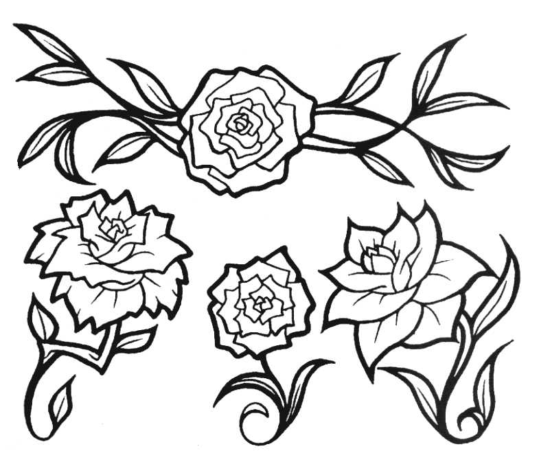 785x676 Sketch Tattoos Rose Flowers Tattoos Part 5 3d Tattoos Images