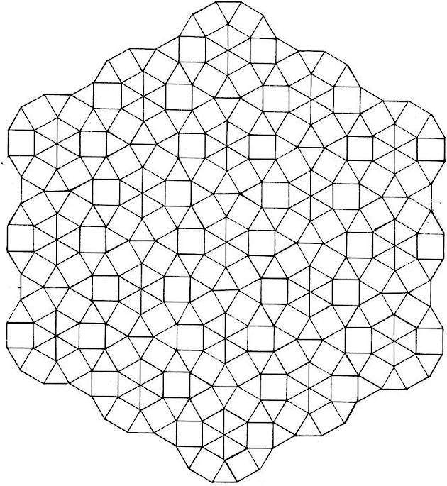 630x685 3d Geometric Design Coloring Pages Color Bros