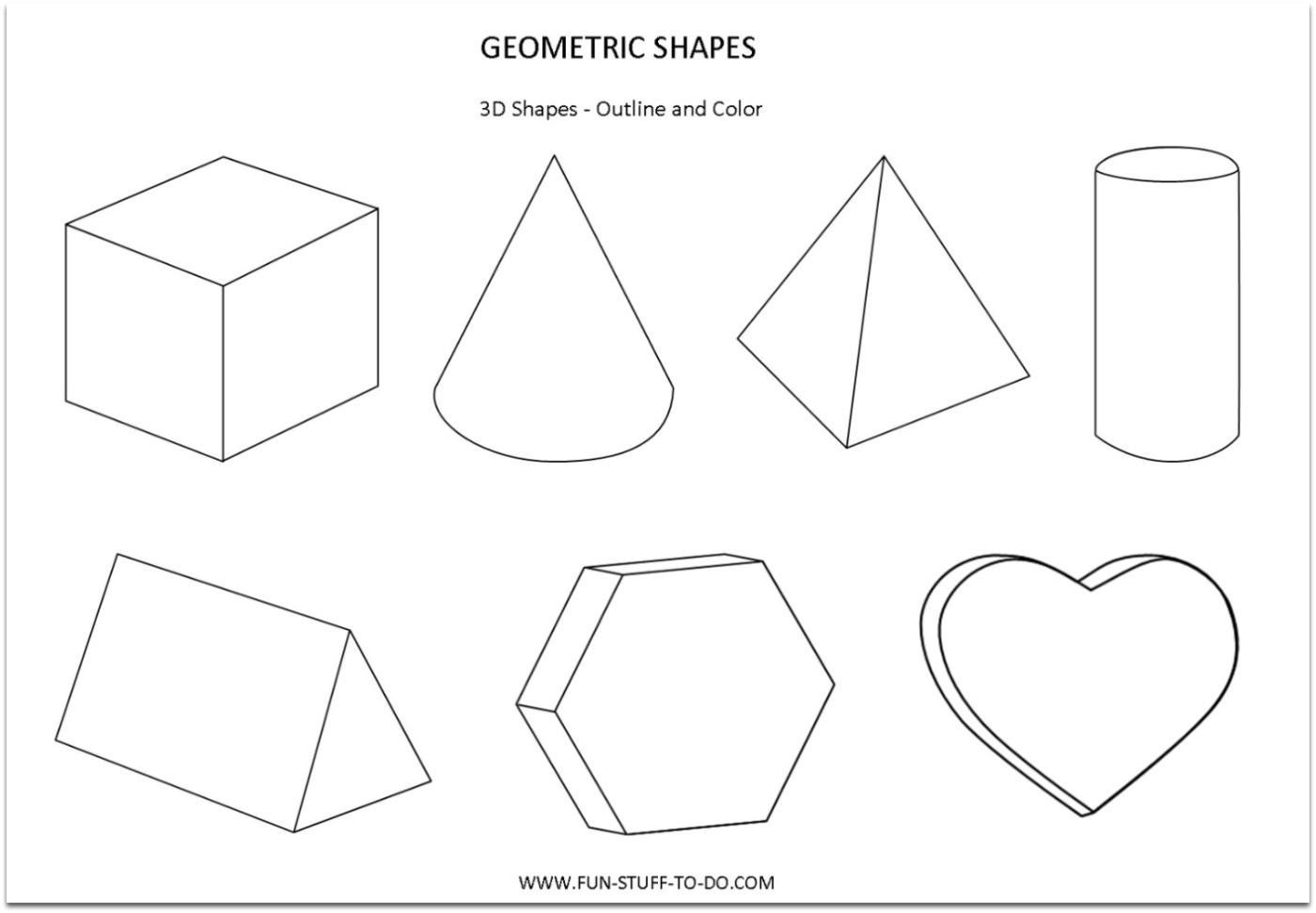 1400x971 3d Shapes For Children 3d Puzzle Image