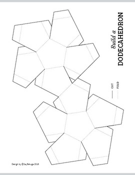 270x350 Build A 3d Dodecahedron Foldable Geometry Shape Net By Saybeluga