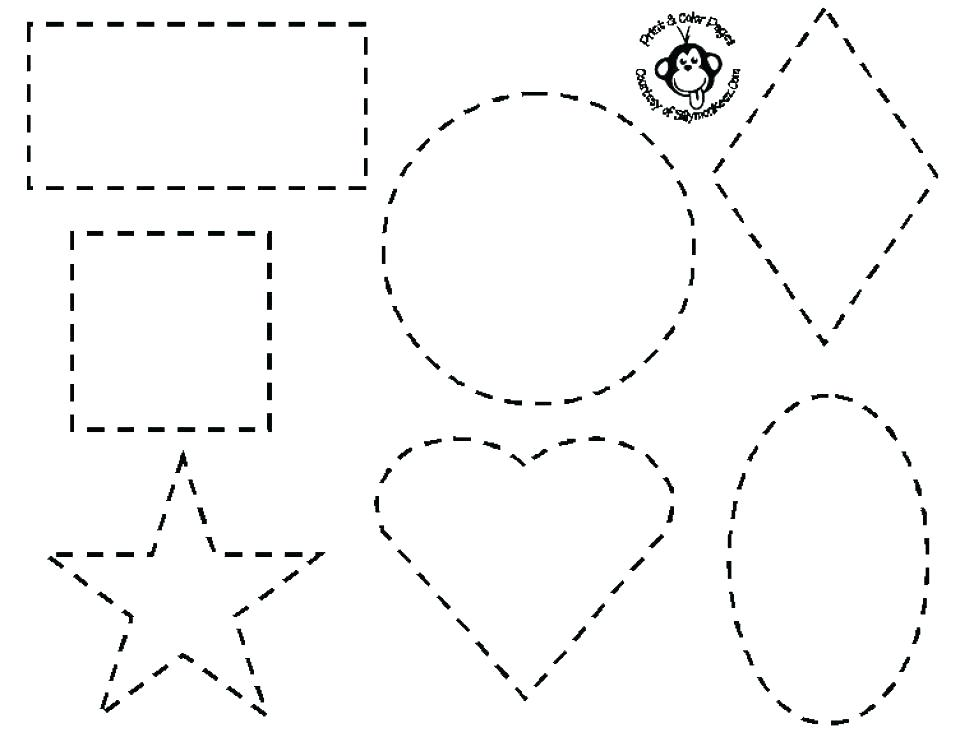 960x751 Coloring Pages For Shapes Drawing Basic Shapes Coloring Page