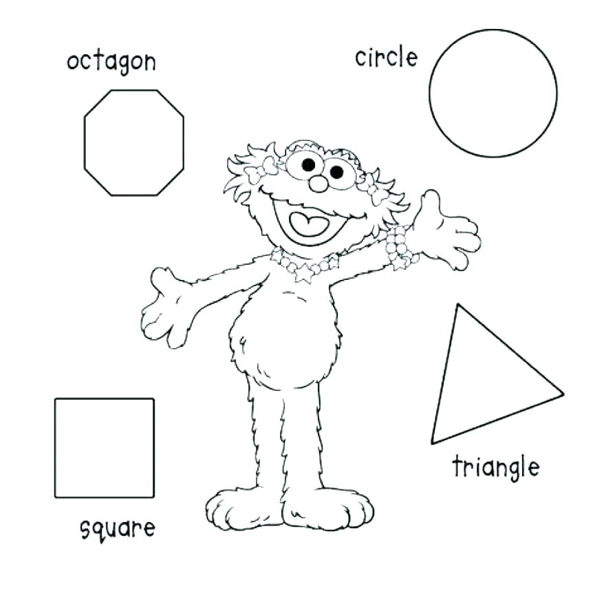 878x878 Coloring Pages Shapes Triangle Sheet Basic Best Ideas Of Printable