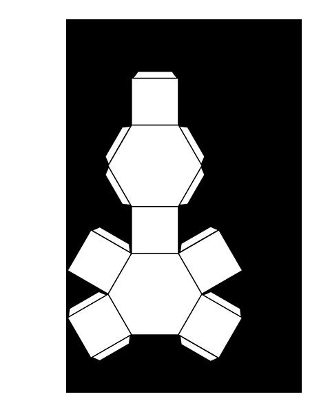 450x582 Hexagonal Prism Template Packaging Love 3d Shapes