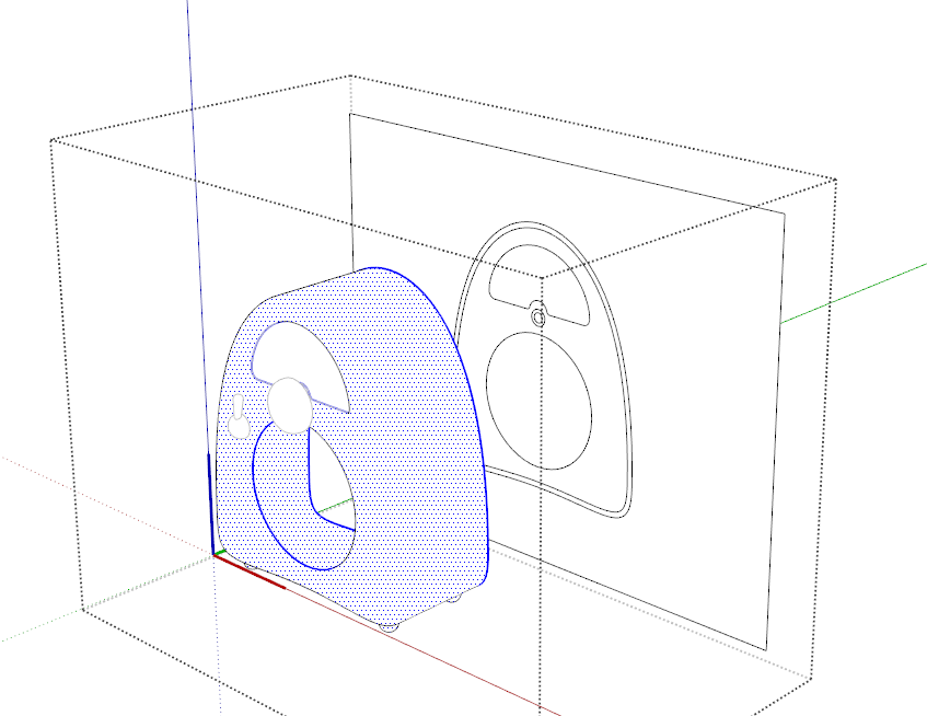 847x654 How To Trace 2d Shape Of Portion Of 3d Object