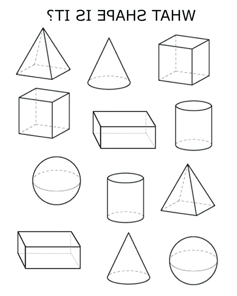 819x1024 Worksheet 3d Figures Worksheets Photos Of The Shape Drawing Image