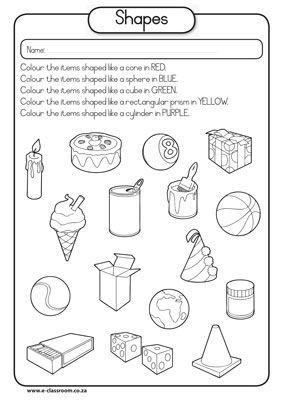 283x400 3d Shape Worksheet For Kindergarten Worksheets For All Download