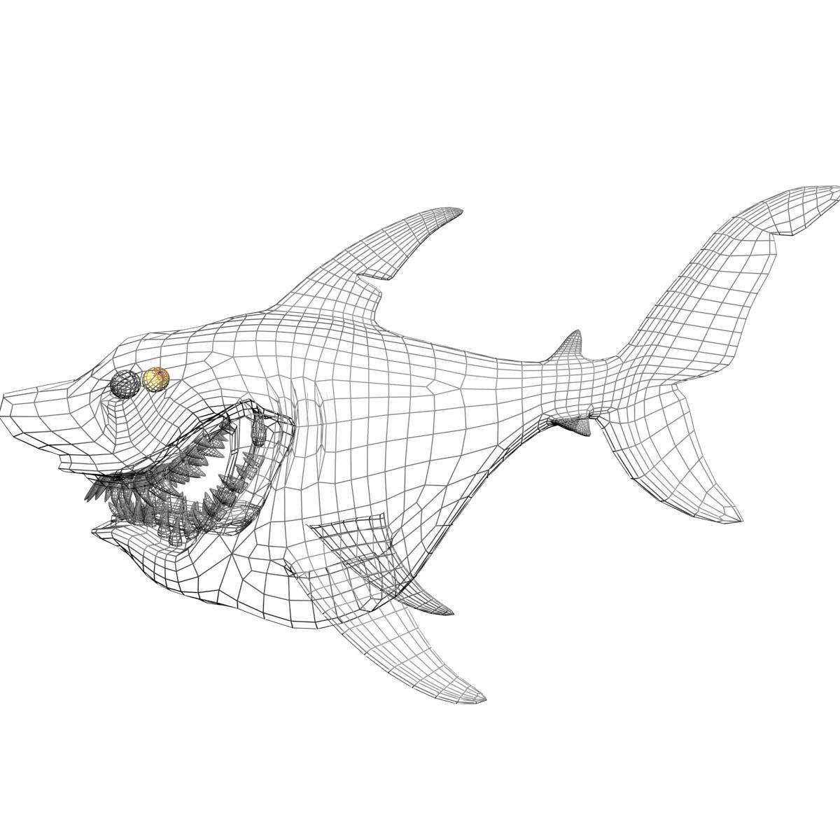 3d Shark Drawing