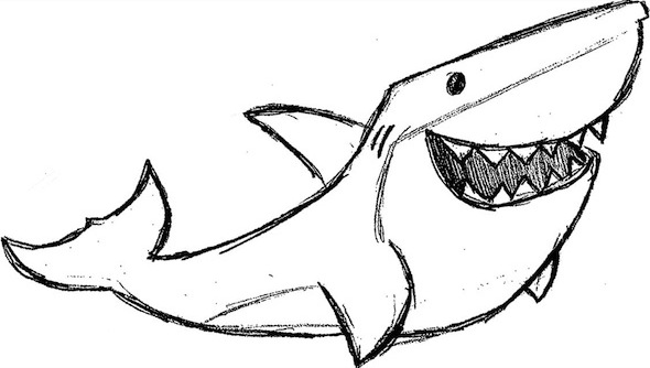 how to draw a cool shark