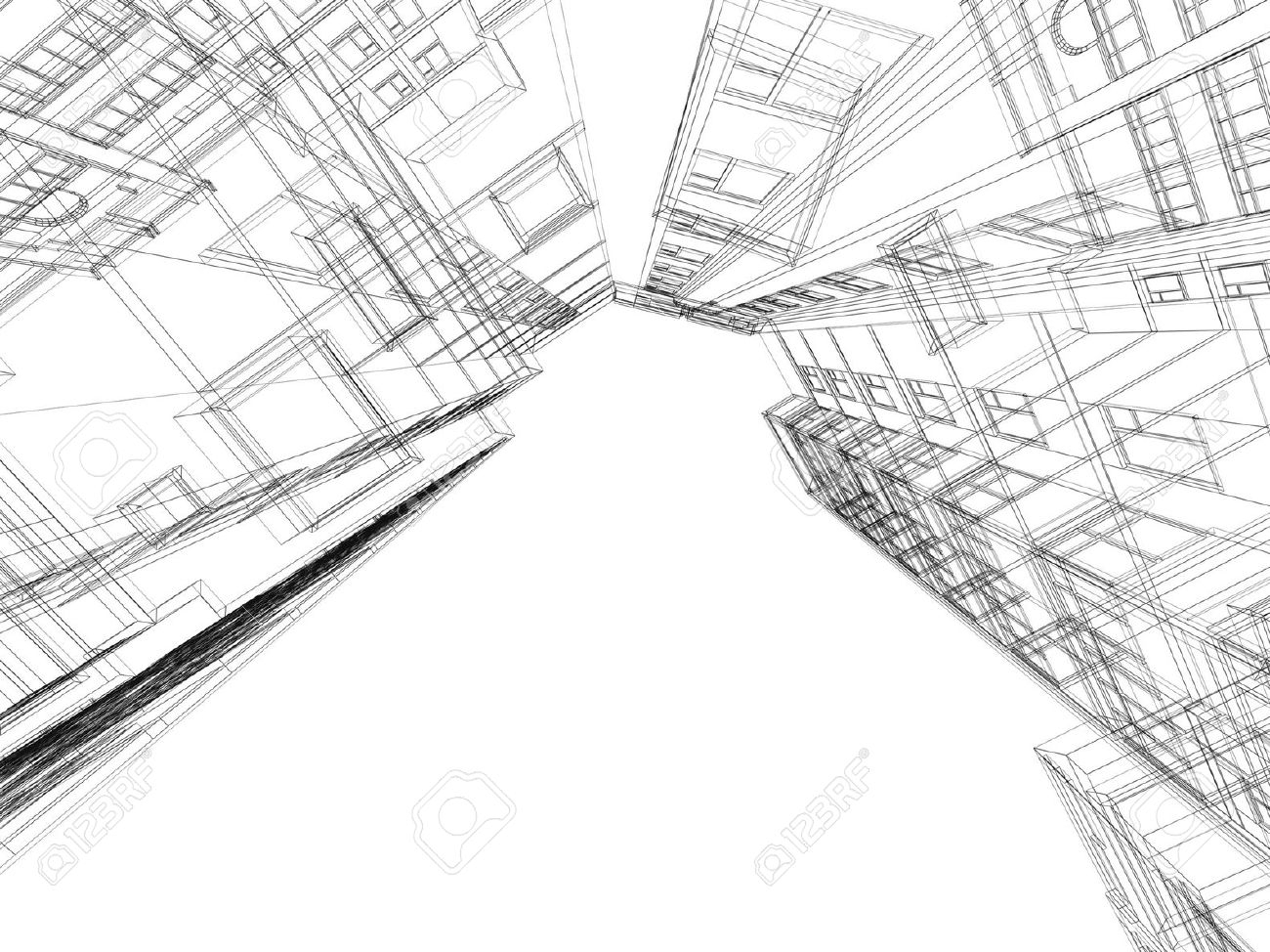 1300x974 Black And White 3d Abstract Sketches 3d Abstract Sketches Abstract