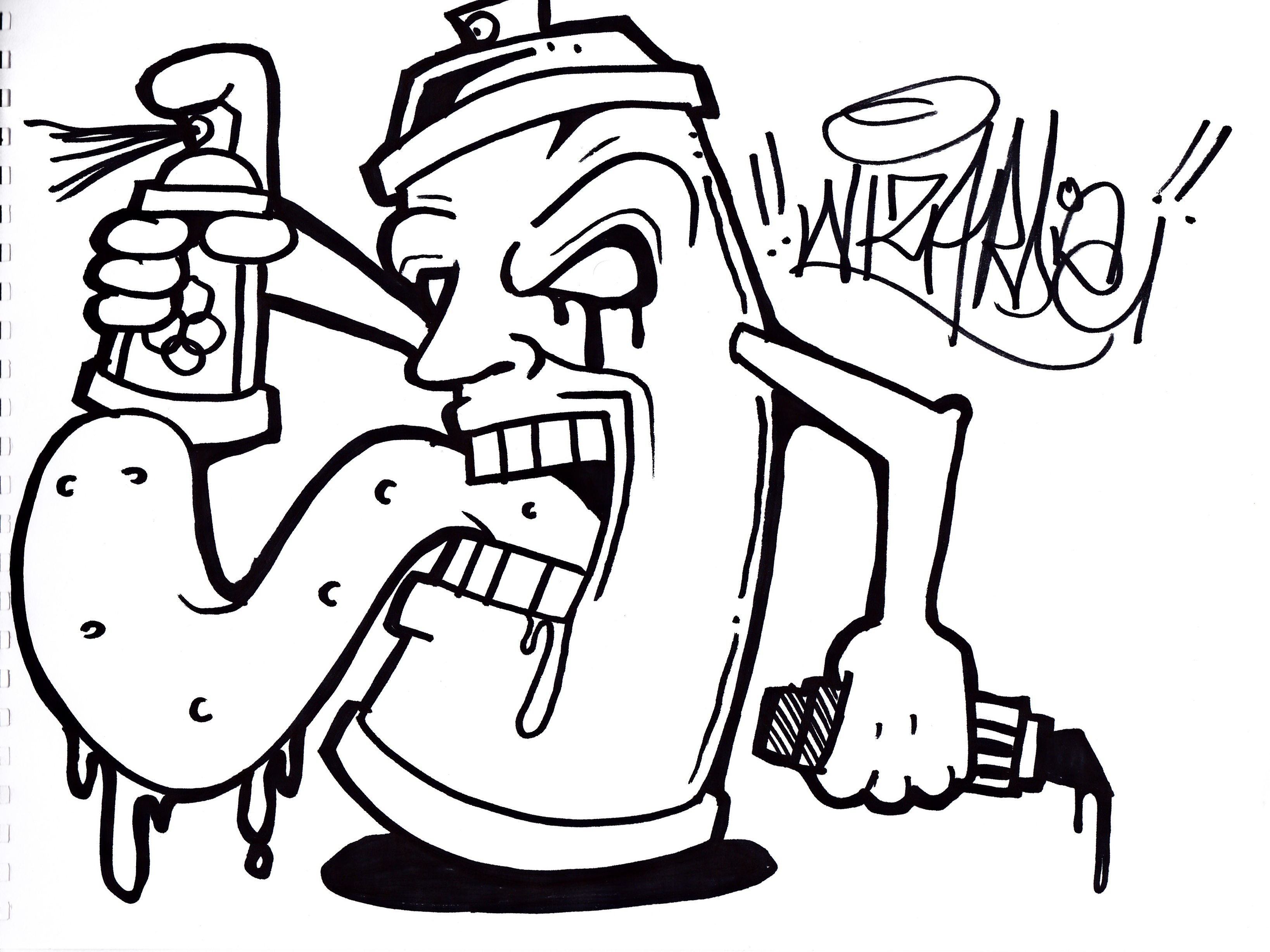 3275x2454 Doodle Monster Graffiti Doodle Monster Drawing 3d How To Draw