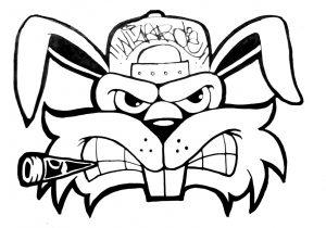 300x210 Graffiti Monsters Sketches Simple Graffiti Character Monster