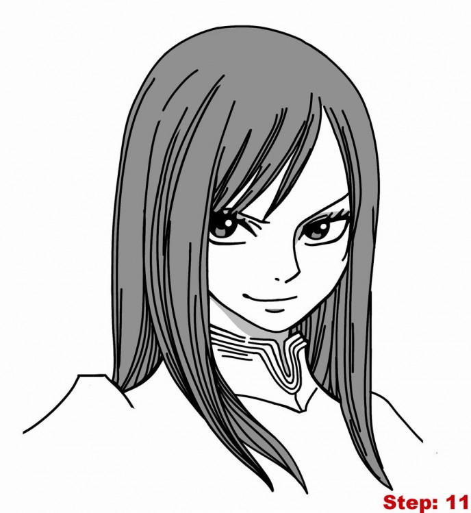 688x749 How To Draw Erza Scarlet From Fairy Tail