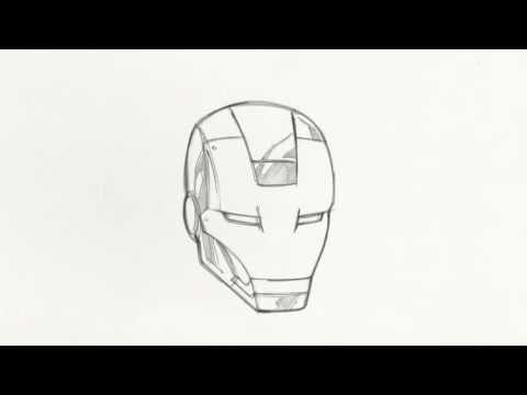 480x360 How To Draw Iron Man's Helmet