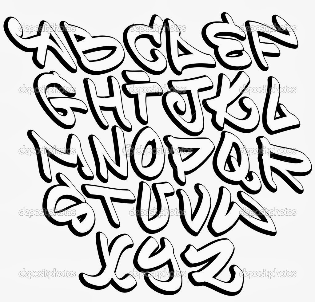 1024x983 Simple Font Graffiti Graffiti 3d Simple Alphabet Alphabet Graffiti