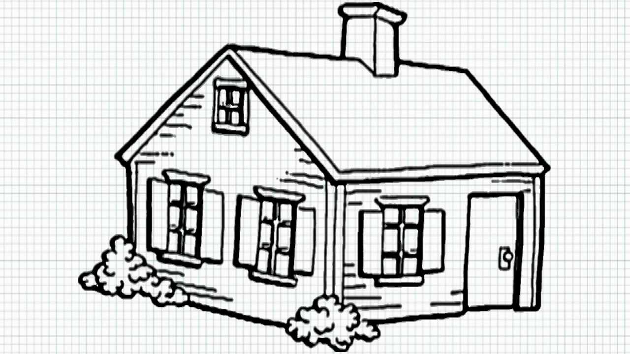 1280x720 3d House Drawing Pencil Easy House Drawings Modern Basic Simple