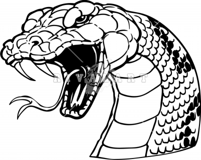400x320 Cobra Snake Face Drawing