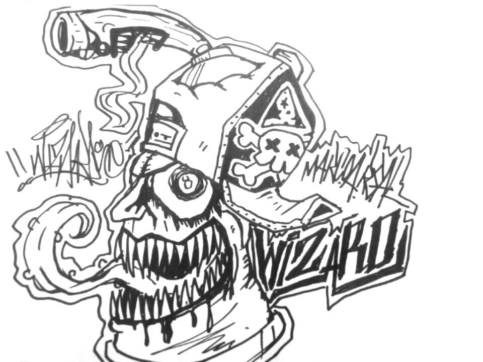 960x720 How To Draw A Evil Spray Can Chracracter Graffiti