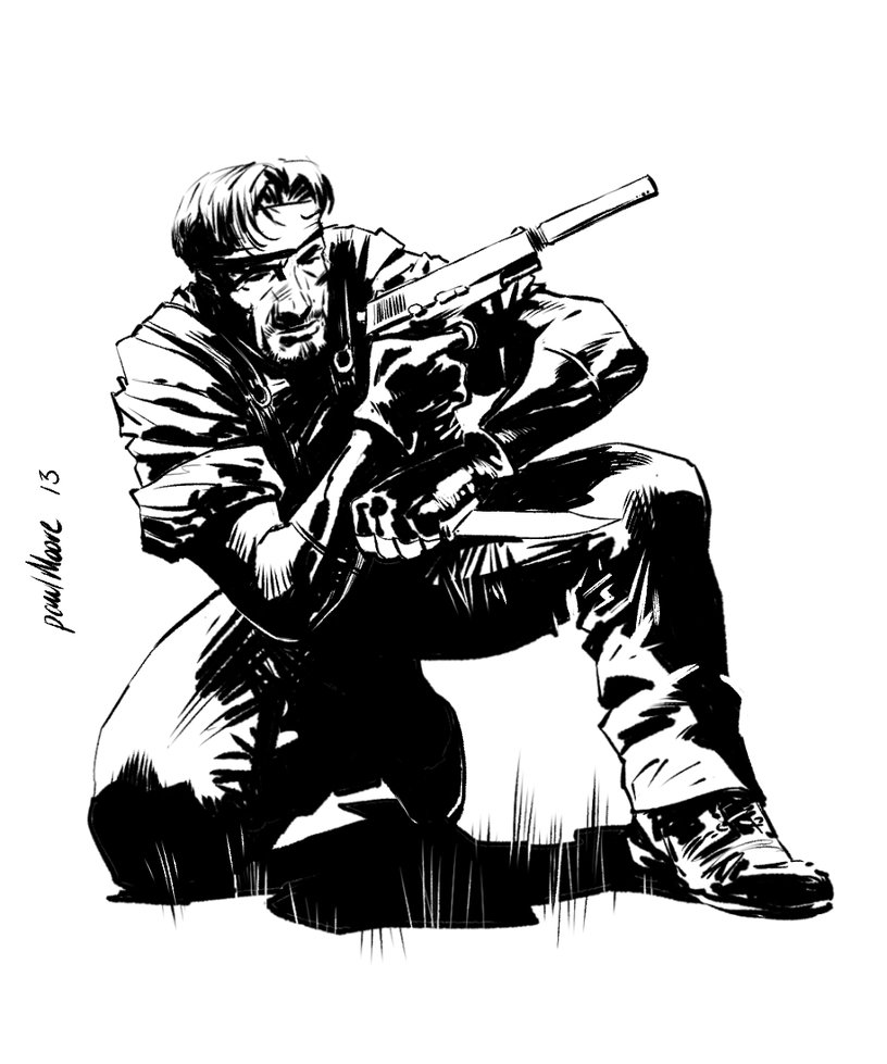 816x979 Metal Gear Solid Snake Inked Up By Paul Moore