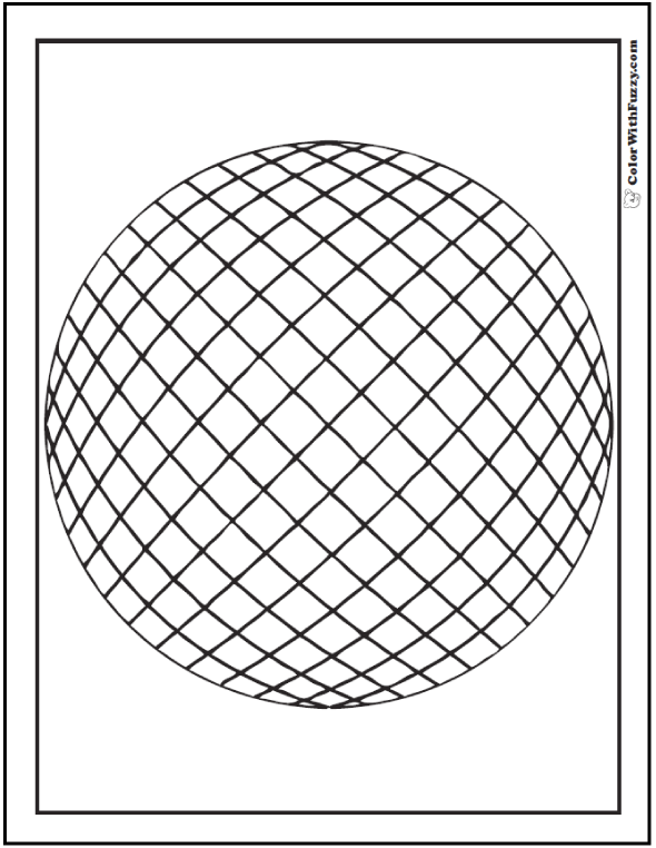 590x762 Sphere Of Coloring Sheets 3d Sphere Drawing