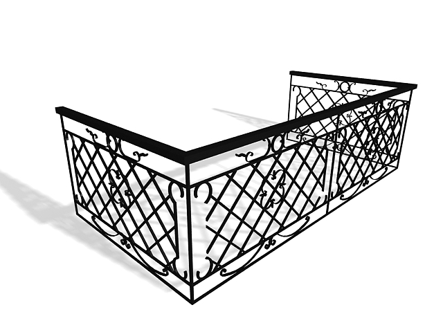 640x480 Wrought Iron Stair Handrails 3d Model 3ds Max Files Free Download