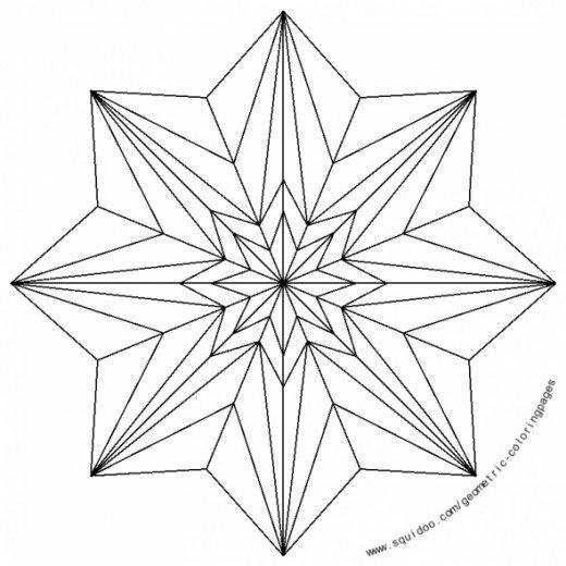 Radial Design Color Wheel Coloring Page