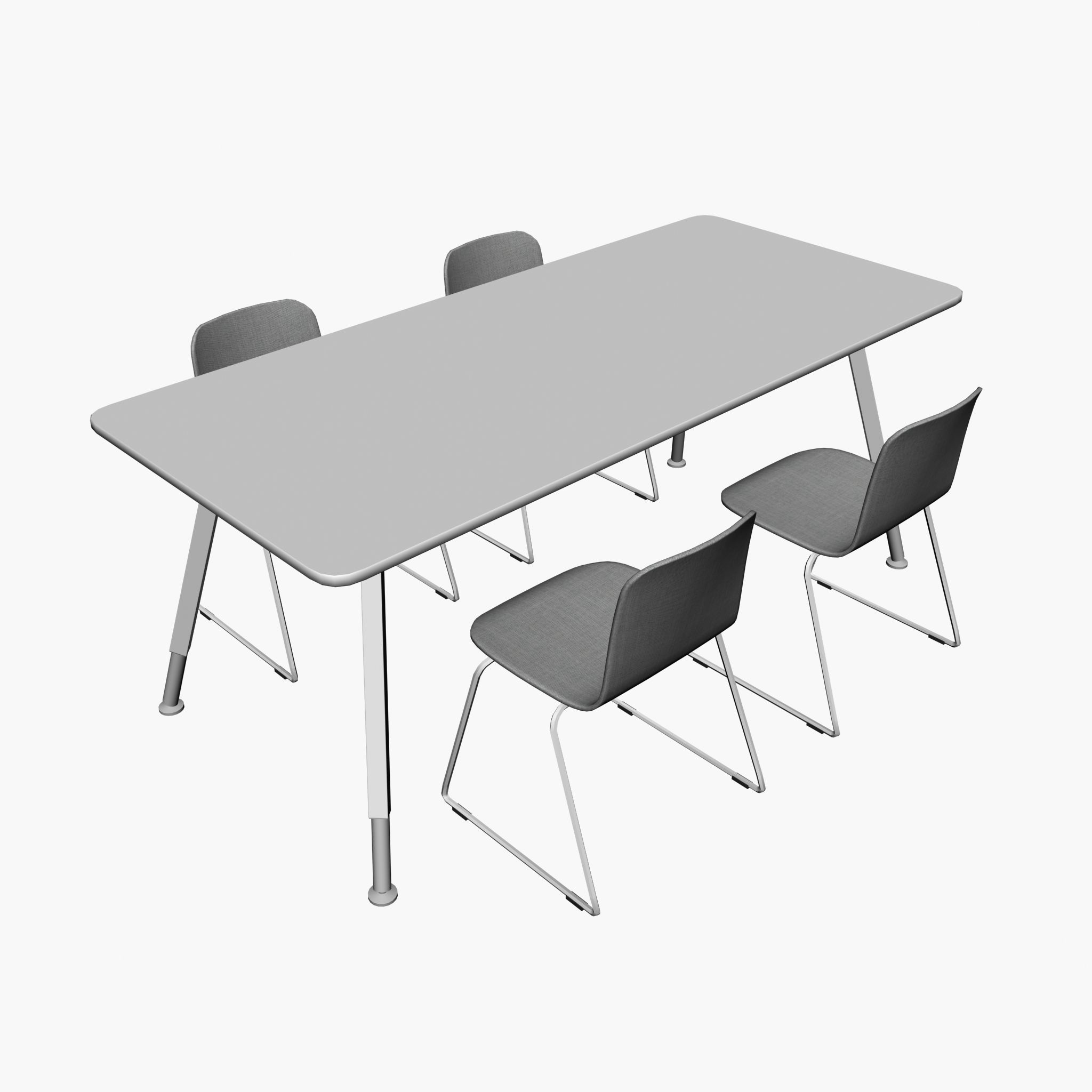 2048x2048 Conference Table Pp 01 3d Model Cgtrader