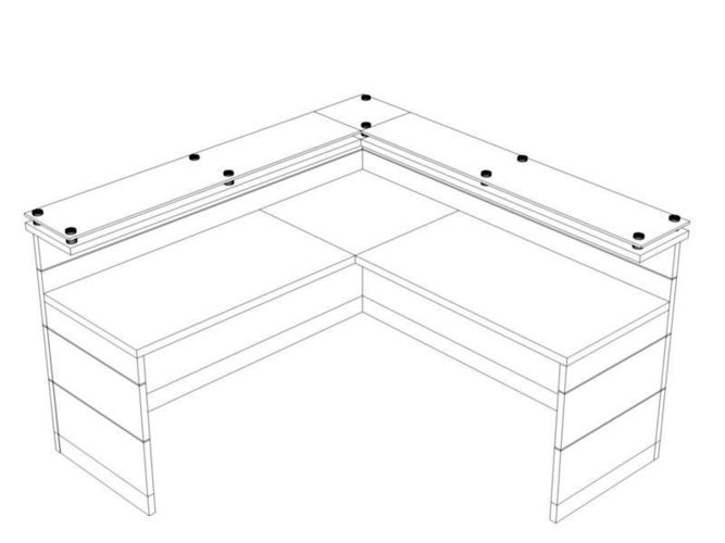 667x500 3d Counter Desk Cgtrader