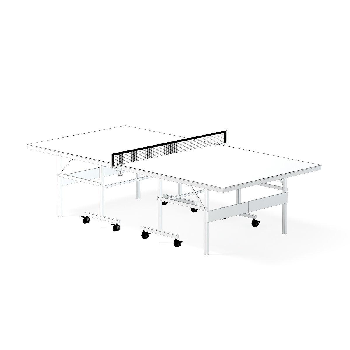 1200x1200 Table Tennis Table 3d Model Animated Max Obj Fbx C4d Mtl