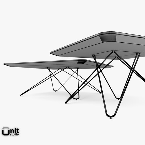 500x500 3d Cimber Tables Set By Leolux Cgtrader