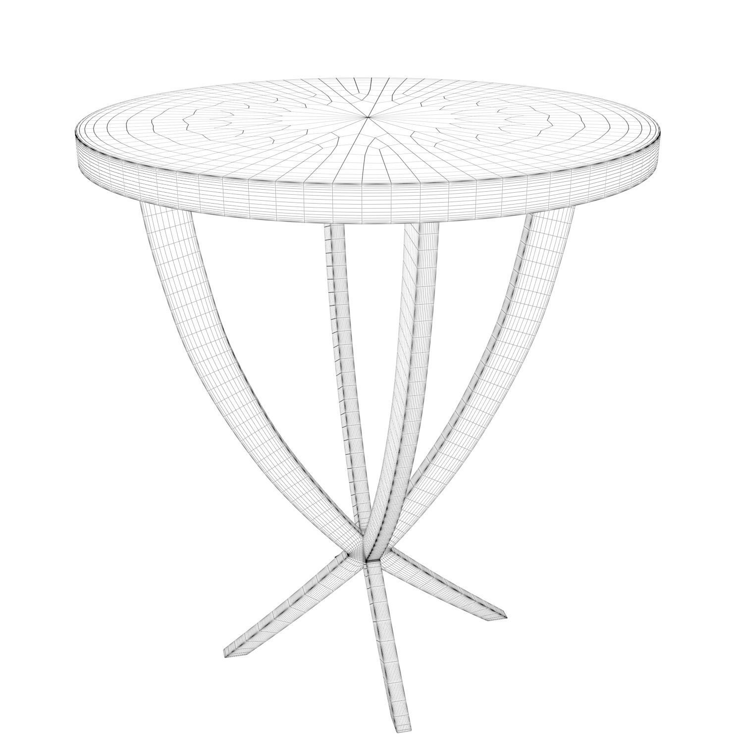 1500x1500 3d Tilia Side Table Cgtrader