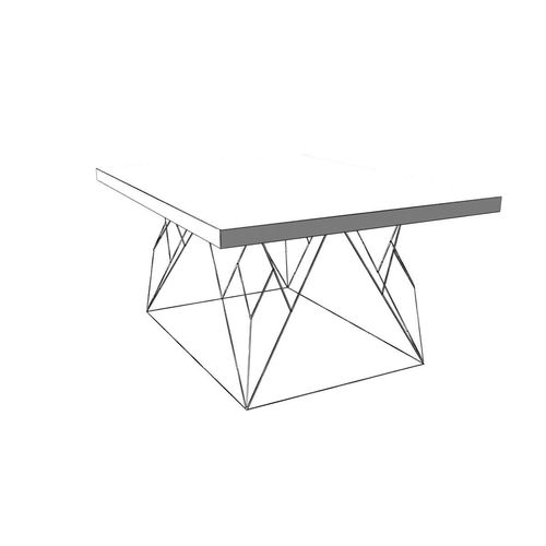 500x500 3d Model Wire Coffee Table Cgtrader