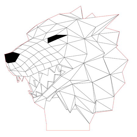 450x450 Stark Wolf 3d Illusion Lamp Vector File For Cnc