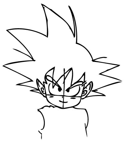 408x463 How To Draw Son Goku As A Child From Dragon Ball Z With Drawing