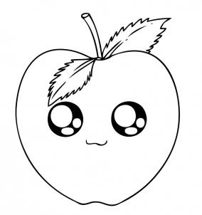 284x302 How To Draw How To Draw An Apple Chibi