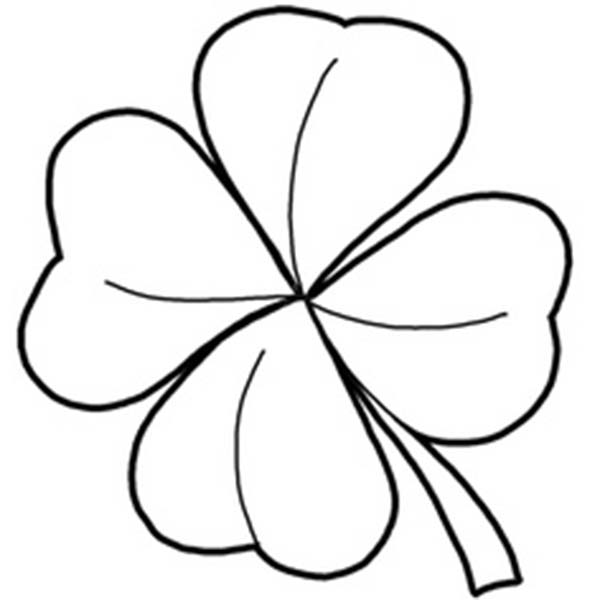 600x600 Four Leaf Clover, A Symbol Of Good Luck Coloring Page