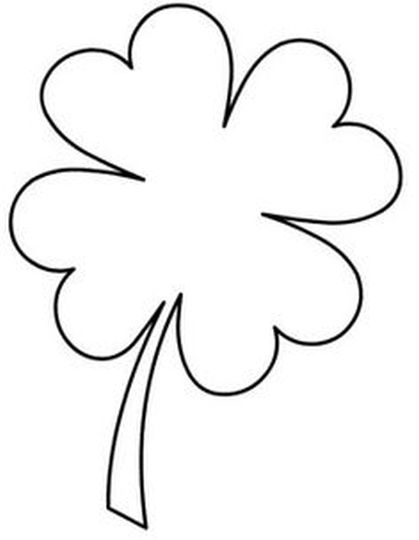 419x540 Four Leaf Clover Coloring Page