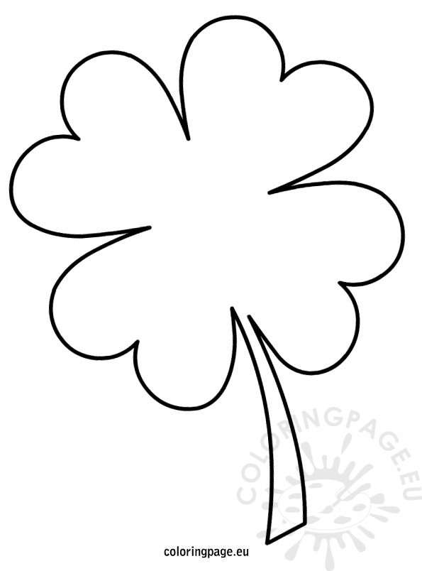 595x804 Four Leaf Clover Coloring Page Four Leaf Clover Template Coloring