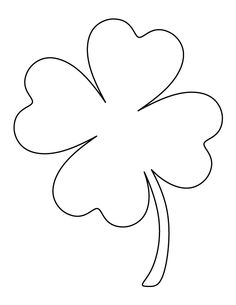 236x305 Printable Full Page Large Four Leaf Clover Pattern. Use