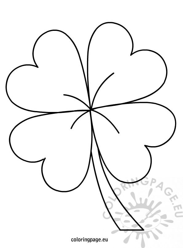 595x804 Weird Four Leaf Clover Coloring Pages Page