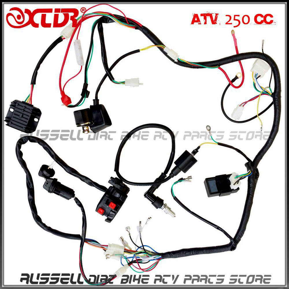 1000x1000 Complete Electrics Wiring Harness Atv Quad 4 Wheeler 200cc 250cc