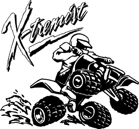 570x529 Extreme 4 Wheeler Sports Decal Free Shipping