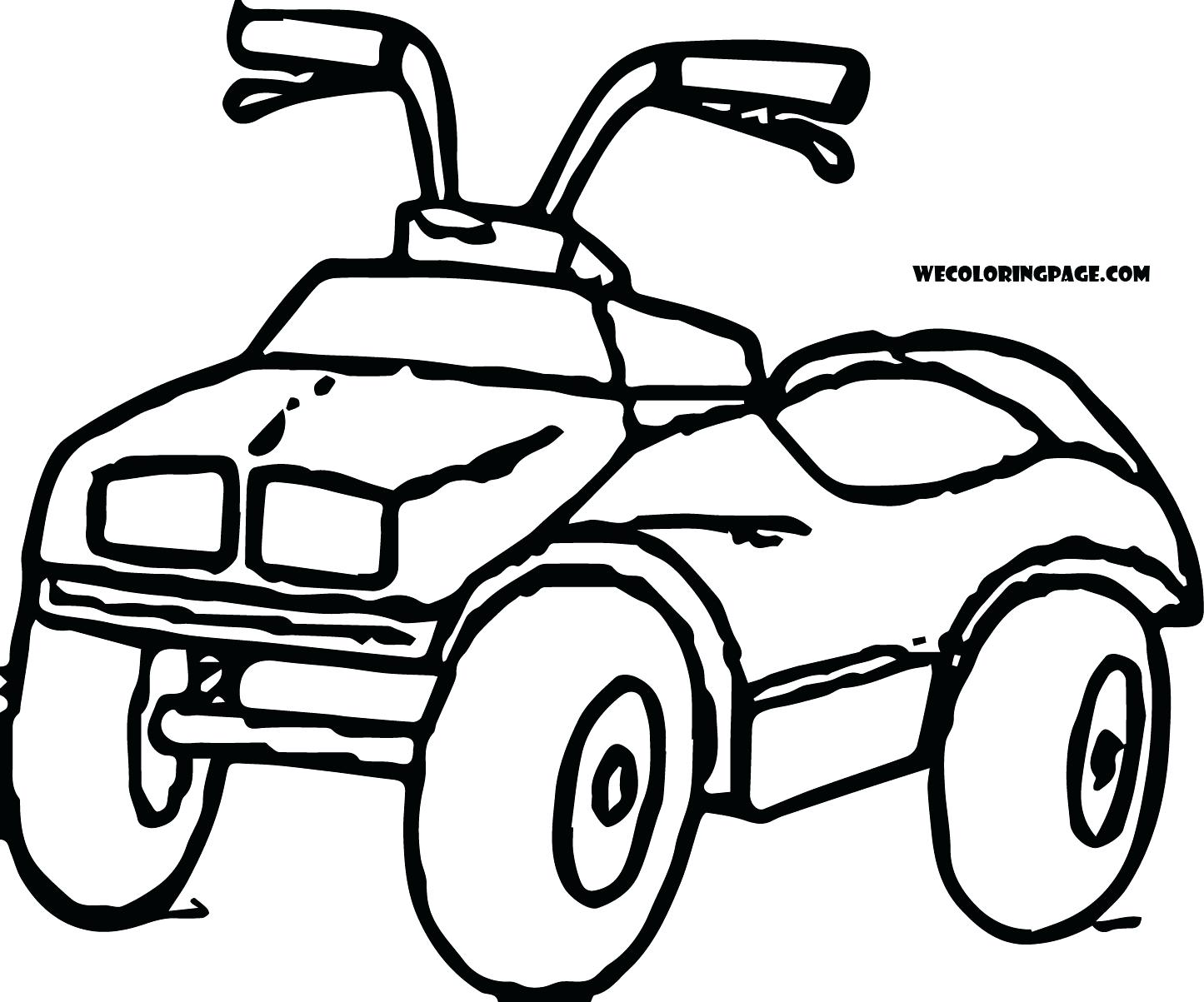 1445x1203 Coloring 4 Wheeler Coloring Pages