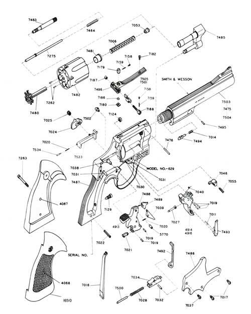 500x625 Sampw 44 Magnum Stainless Revolver Model 629 Bangor Punta Archives