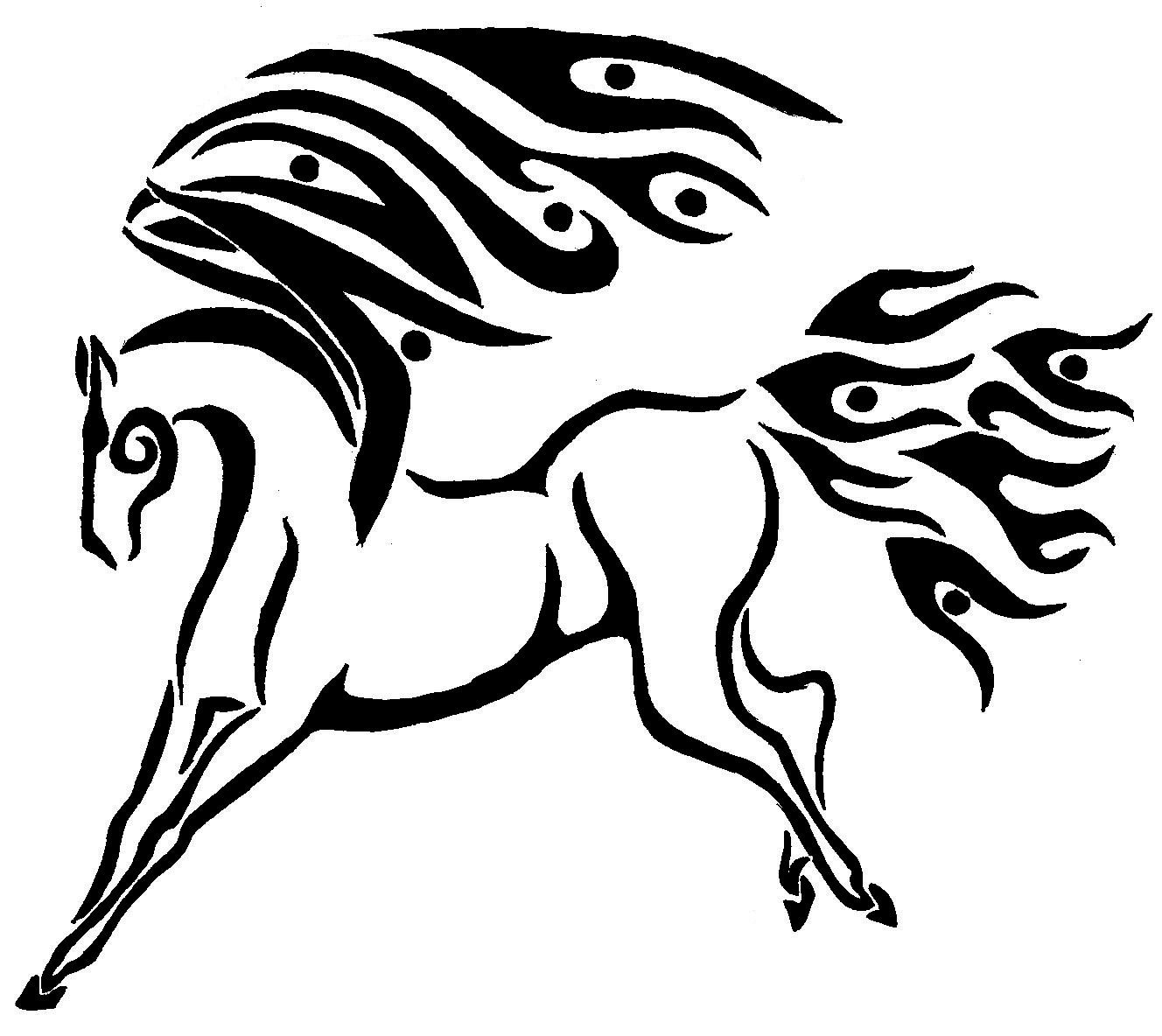 1328x1184 Tribal Pegasus By 44 Magnum Vampire