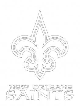 262x350 printable saints logo 49ers logo coloring page new orleans - 49ers Logo Coloring Page