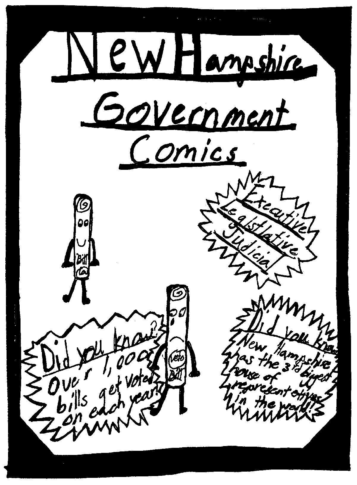 1200x1631 Nh Government Comics By Mrs. Adams' 4th Grade Live Free And Draw