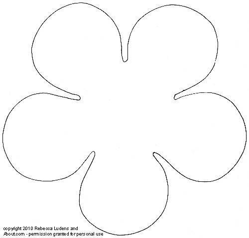 5 Petal Flower Drawing