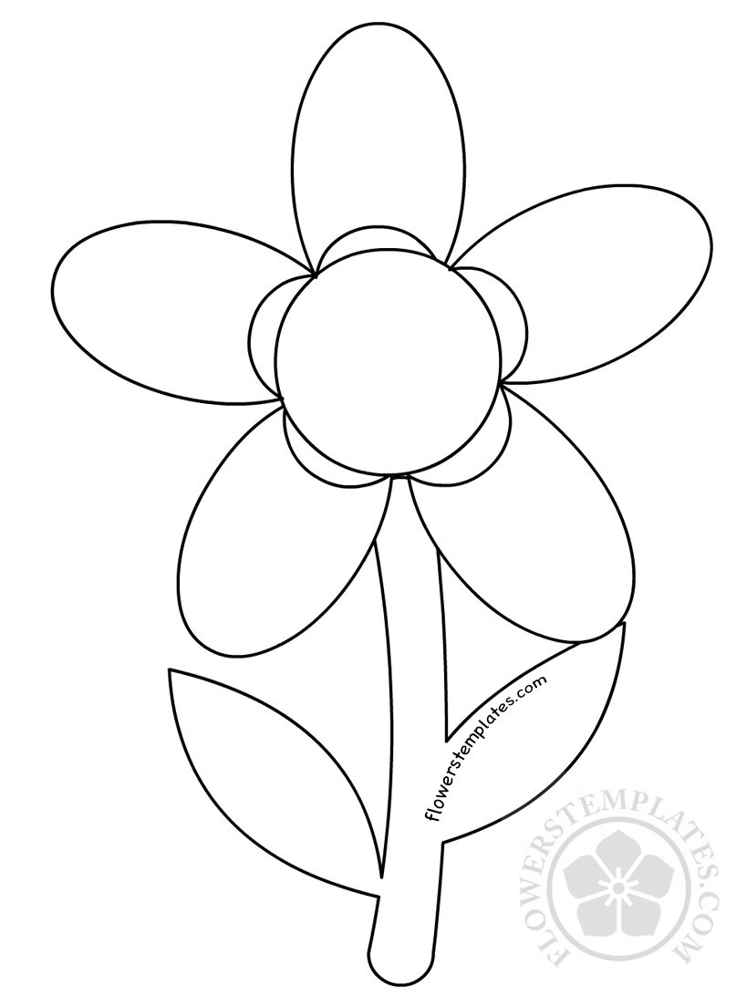 5 petal flower drawing at free for for Flower template 5 petals